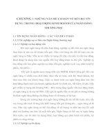 CHƯƠNG 1 NHỮNG VẤN ĐỀ CƠ BẢN VỀ RỦI RO TÍN DỤNG TRONG HOẠT ĐỘNG KINH DOANH CỦA NGÂN HÀNG THƯƠNG MẠI