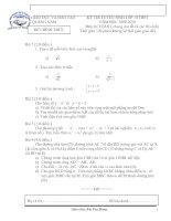Đề toán thi vào lớp 10