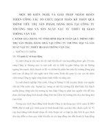 MỘT SỐ KIẾN NGHỊ VÀ GIẢI PHÁP NHẰM HOÀN THIỆN CÔNG TÁC TỔ CHỨC HẠCH TOÁN KẾ TOÁN QUÁ TRÌNH TIÊU THỤ SẢN PHẨM