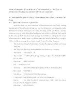 TÌNH HÌNH HOẠT ĐỘNG KINH DOANH NHẬP KHẨU CỦA CÔNG TY TNHH THƯƠNG MẠI VÀ DỊCH VỤ KĨ THUẬT TÂN LONG
