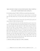 MỘT SỐ KIẾN NGHỊ VÀ GIẢI PHÁP KHẮC PHỤC NHỮNG BẤT CẬP VÀ KHÓ KHĂN KHI ÁP DỤNG