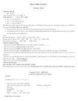 Những vấn đề cân lưu ý để thi học kì 1 hóa 11