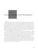 Classes, Objects, and Namespaces