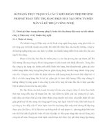 ĐÁNH GIÁ THỰC TRẠNG VÀ CÁC Ý KIẾN HOÀN THIỆ PHƯƠNG PHÁP KẾ TOÁN TIÊU THỤ HÀNG ĐIỆN MÁY TẠI CÔNG TY ĐIỆN MÁY VÀ KỸ THUẬT CÔNG NGHỆ