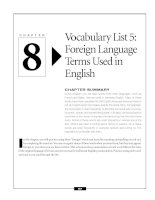 Vocabulary List 5 - Foreign Language Terms Used in English