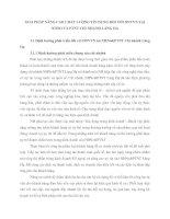 GIẢI PHÁP NÂNG CAO CHẤT LƯỢNG TÍN DỤNG ĐỐI VỚI DNVVN TẠI  NHNO VÀ PTNT CHI NHÁNH LÁNG HẠ