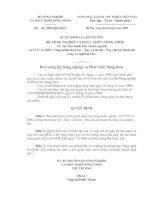 Quyết định số 44 /2002/QĐ-BNN về TCN 12 2002