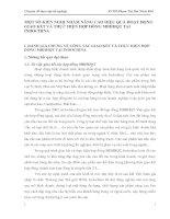 MỘT SỐ KIẾN NGHỊ NHẰM NÂNG CAO HIỆU QUẢ HOẠT ĐỘNG GIAO KẾT VÀ THỰC HIỆN HỢP ĐỒNG MBHHQT TẠI INDOCHINA
