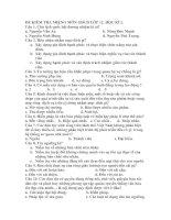 KIỂM TRA MIỆNG MÔN GDCD LÓP 12 HK1