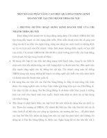 MỘT SỐ GIẢI PHÁP NÂNG CAO HIỆU QUẢ HOẠT ĐỘNG KINH DOANH THẺ TẠI CHI NHÁNH NHĐA HÀ NỘI