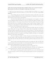MỘT SỐ GIẢI PHÁP NHẰM HOÀN THIỆN CÔNG TÁC LẬP KẾ  HOẠCH BÁN HÀNG Ở CÔNG TY CỔ PHẦN THIẾT BỊ TÂN PHÁT