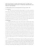 MỘT SỐ GIẢI PHÁP VÀ KIẾN NGHỊ NHẰM NÂNG CAO HIỆU QUẢ HOẠT ĐỘNG KINH DOANH CÔNG TY TNHH MỘT THÀNH VIÊN CẢNG SÔNG TP . HỒ CHÍ MINH