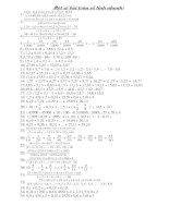 Một số bài toán tính nhanh lớp 5