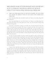 MỘT SỐ KIẾN NGHỊ VỀ TÌNH HÌNH KẾ TOÁN CHI PHÍ SẢN XUẤT VÀ TÍNH GIÁ THÀNH SẢN PHẨM XÂY DỰNG Ở CÔNG TY XÂY DỰNG CÔNG TRÌNH GIAO THÔNG 842