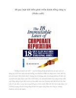 18 quy luật bất biến phát triển danh tiếng công ty (Phần cuối)