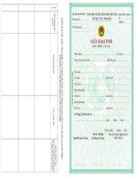 Giấy khai sinh (Bản chính – Cấp lại) – mẫu sử dụng tại UBND cấp huyện