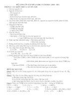 đề cương ôn tập học kỳ 1 hóa 8 (2010-2011)