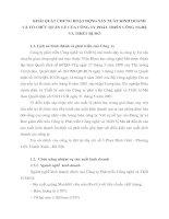 KHÁI QUÁT CHUNG HOẠT ĐỘNG SẢN XUẤT KINH DOANH VÀ TỔ CHỨC QUẢN LÝ CỦA CÔNG TY PHÁT TRIỂN CÔNG NGHỆ VÀ THIẾT BỊ MỎ