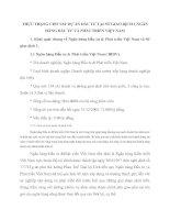 THỰC TRẠNG CHO VAY DỰ ÁN ĐẦU TƯ TẠI SỞ GIAO DỊCH 1 NGÂN HÀNG ĐẦU TƯ VÀ PHÁT TRIỂN VIỆT NAM