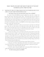 THỰC TRẠNG TỔ CHỨC KẾ TOÁN VÀ QUẢN LÝ TÀI SẢN CỐ ĐỊNH TẠI BƯU ĐIỆN HÀ NỘI