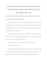 THỰC TRẠNG CHẤT LƯỢNG TÍN DỤNG TRUNG  DÀI HẠN TẠI SỞ GIAO DỊCH I NGÂN HÀNG ĐẦU TƯ VÀ PHÁT TRIỂN VIỆT NAM