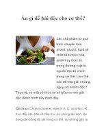 Ăn gì để bài độc cho cơ thể?