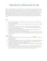 Những điều nên và không nên khi viết email