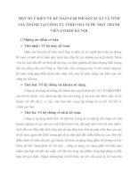 MỘT SỐ Ý KIẾN VỀ KẾ TOÁN CHI PHÍ SẢN XUẤT VÀ TÍNH GIÁ THÀNH TẠI CÔNG TY TNHH NHÀ NƯỚC MỘT THÀNH VIÊN CƠ KHÍ HÀ NỘI