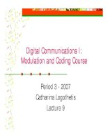 Modulation and coding course- lecture 9