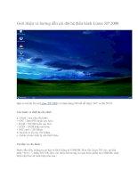 Giới thiệu và hướng dẫn cài đặt hệ điều hành Linux XP 2008