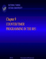 Chapter 9: COUNTER/TIMER PROGRAMMING IN THE 8051
