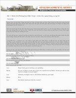 English learning series - Bài 1: Nhận Giữ Phòng Qua Điện Thoại – chào hỏi, ngày tháng, xưng hô
