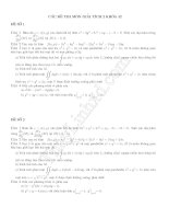Các Đề thi môn Giải tích 2 khóa 52