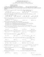 2 đề kiểm tra Học kỳ I Môn Toán lớp 10 tham khảo và đáp án