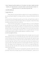 THỰC TRẠNG NGUỒN NHÂN LỰC VÀ CÔNG TÁC PHÁT TRIỂN NGUỒN NHÂN LỰC NHẰM NÂNG CAO KHẢ NĂNG CẠNH TRANH Ở CÔNG TY TNHH SẢN XUẤT VÀ THƯƠNG MẠI BẮC ĐÔ