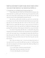NHỮNG GIẢI PHÁP VÀ KIẾN NGHỊ  HOÀN THIỆN CÔNG TÁC QUẢN TRỊ NHÂN SỰ TẠI  KHÁCH SẠN ĐÔNG Á
