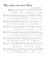 Bài hát ngụ ngôn của mùa Đông - Trịnh Công Sơn (lời bài hát có nốt)