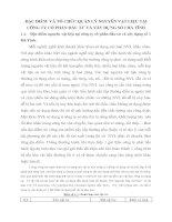 ĐẶC ĐIỂM  VÀ TỔ CHỨC QUẢN LÝ NGUYÊN VẬT LIỆU TẠI CÔNG TY CỔ PHẦN ĐẦU TƯ VÀ XÂY DỰNG SỐ I HÀ TĨNH