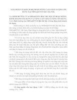 GIẢI PHÁP VÀ KIẾN NGHỊ NHẰM NÂNG CAO CHẤT LƯỢNG TÍN DỤNG TẠI NHNo