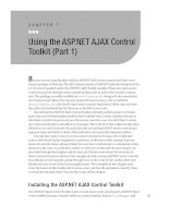 Using the ASP.NET AJAX Control Toolkit (Part 1)