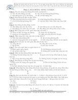 Tổng hợp các bài tập trắc nghiệm Vật lý Ôn thi ĐH CĐ