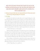 MỘT SỐ GIẢI PHÁP VỀ PHƯƠNG PHÁP XÂY DỰNG HỆ THỐNG CHỈ SỐ ĐÁNH GIÁ THỊ TRƯỜNG BẤT ĐỘNG SẢN