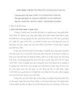 GIỚI THIỆU CHUNG VỀ CÔNG TY CỔ PHẦN MAY NAM HÀ