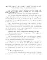 MỘT SỐ GIẢI PHÁP NHẰM HOÀN THIỆN CƠ CHẾ ĐIỀU HÒA VỐN Ở TỔNG CÔNG TY GIẤY VIỆT NAM