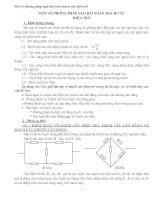 Một số phương pháp giải bài toán mạch câu điện trở