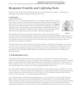 Benjamin Franklin and Lightning Rods