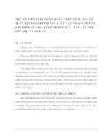 MỘT SỐ KIẾN NGHỊ NHẰM HOÀN THIỆN CÔNG TÁC KẾ TOÁN TẬP HỢP CHI PHÍ SẢN XUẤT VÀ TÍNH GIÁ THÀNH SẢN PHẨM Ở CÔNG TY CỔ PHẦN ĐẦU TƯ - XÂY LẮP - THƯƠNG MẠI VÀ DỊCH VỤ