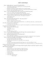 đề cương ôn thi môn sinh lơp 9