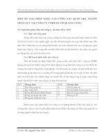 MỘT SỐ GIẢI PHÁP NÂNG CAO CÔNG TÁC QUẢN TRỊ  NGUỒN NHÂN LỰC TẠI CÔNG TY TNHH SX