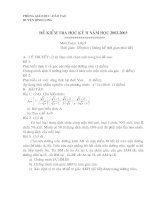 Đề thi hkII năm 02-03 Binh Long